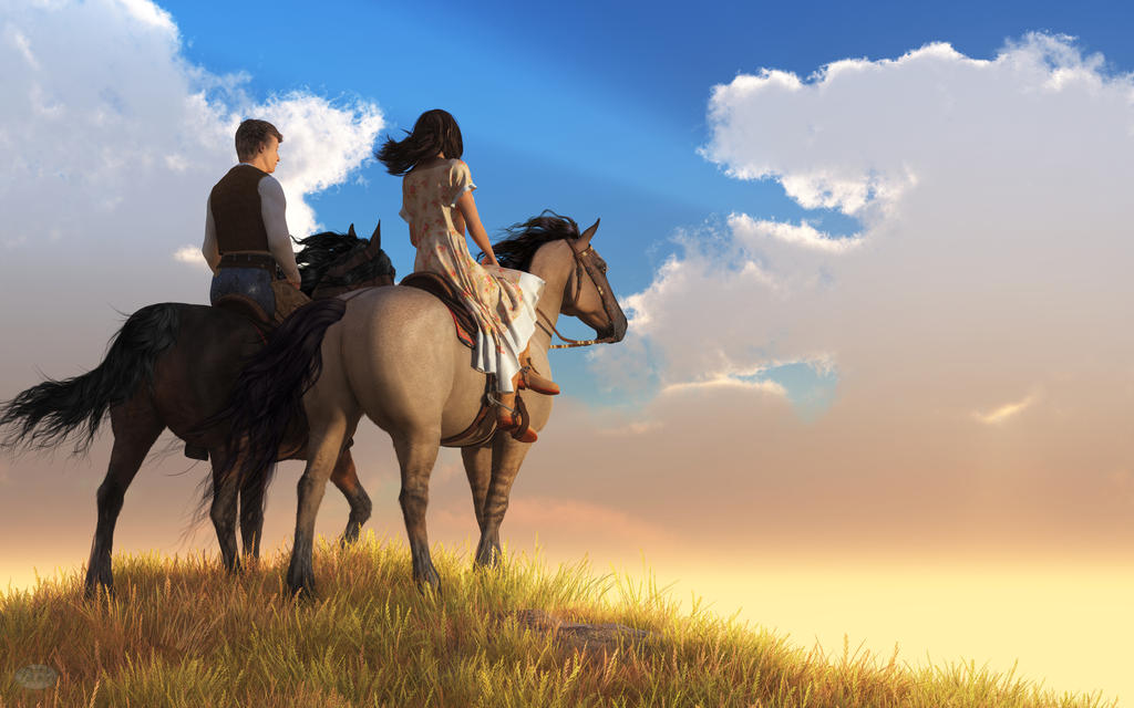 Riding Off into the Sunset by deskridge