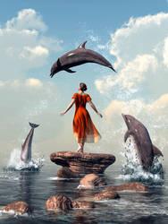 Dolphin Rock by deskridge