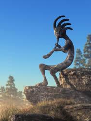 Kokopelli Statue by deskridge