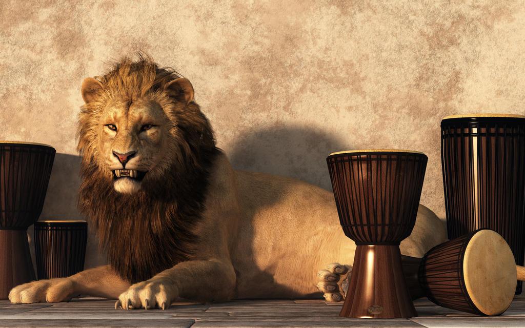 A Lion Among Drums by deskridge