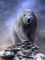 King Polar Bear by deskridge