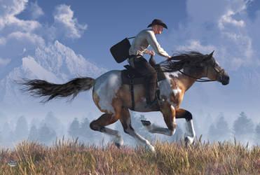 Pony Express Rider by deskridge