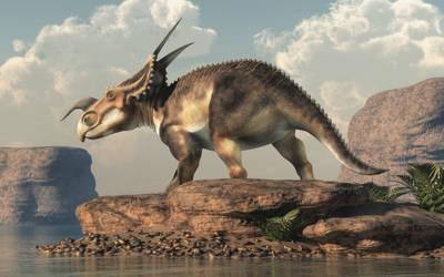 Einiosaurus by deskridge