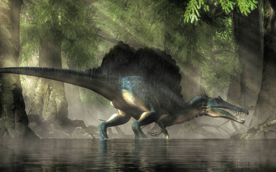 Spinosaurus in a  Swamp