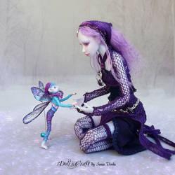 Bjd art   Amethyst ball jointed doll