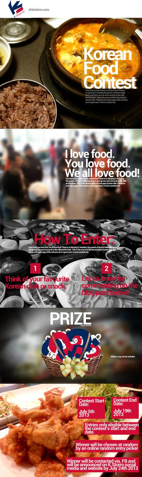 SFU K.STORM Summer 2013 Korean Food Contest1 by UberzErO