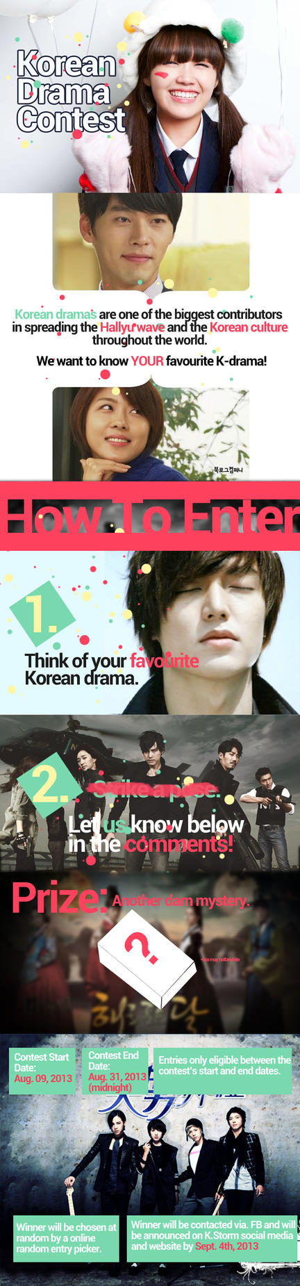 SFU K.STORM Summer 2013 Korean Drama Contest by UberzErO