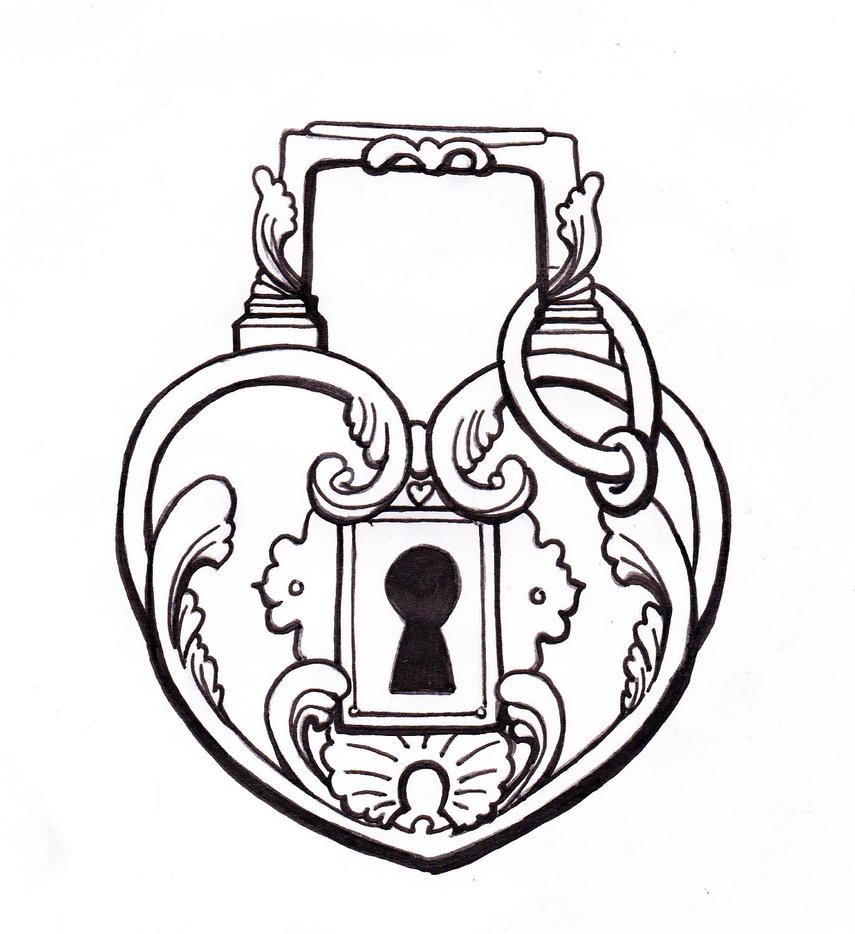 It's just a graphic of Crafty Heart Lock And Key Drawing