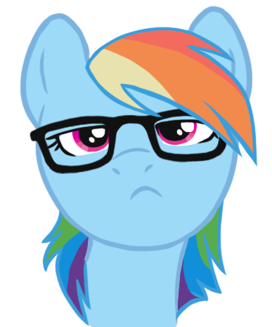 Hipster Rainbow Dash by Blackfeathr