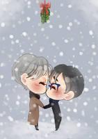 .: Yuri on Ice!!! :. Victuuri Mistletoe by MasterOf-Pizza