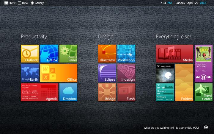Rainmeter Metro Desktop by glange65