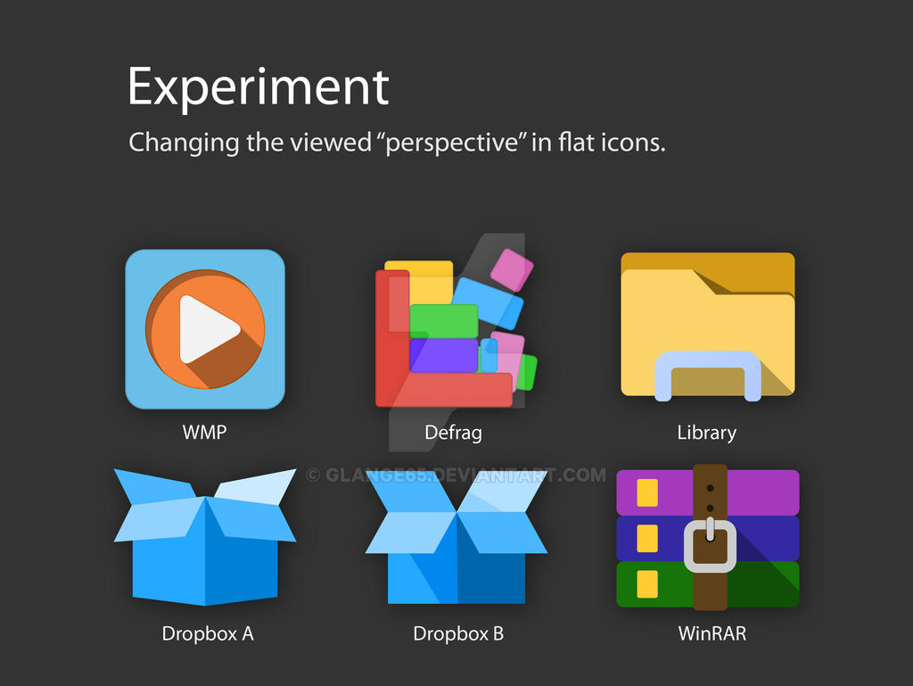 Perspective in Flat Icons