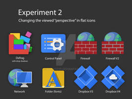 Perspective of Flat Icons