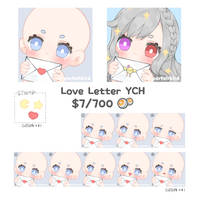 [OPEN] YCH Love Letter by parfaitbird