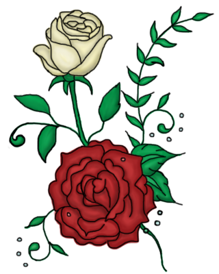 twin roses tattoo design by a not e on deviantart. Black Bedroom Furniture Sets. Home Design Ideas