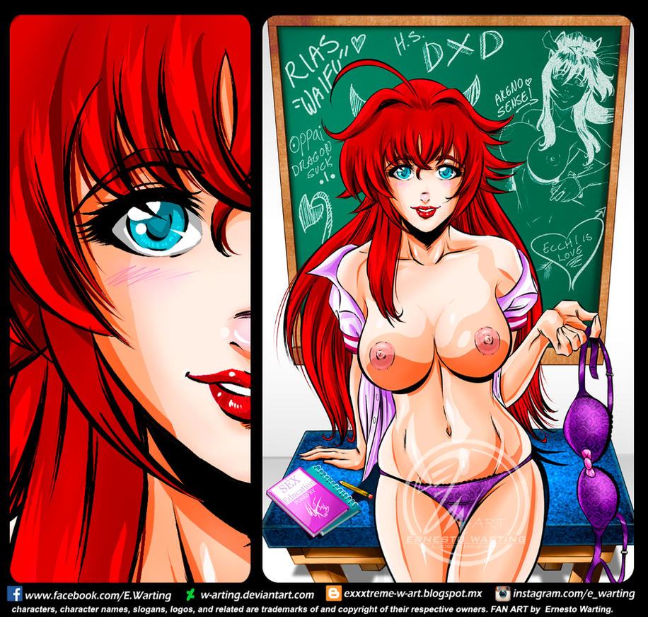 Rias Gremory by E.Warting by W-arting