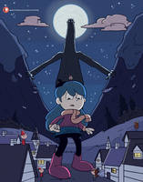 Hilda and the Midnight Giant by sketch-toon