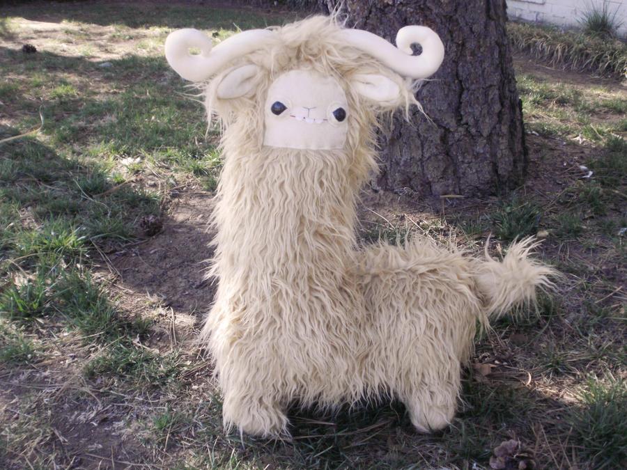 Horned Llama Plush By Lumpybits On Deviantart