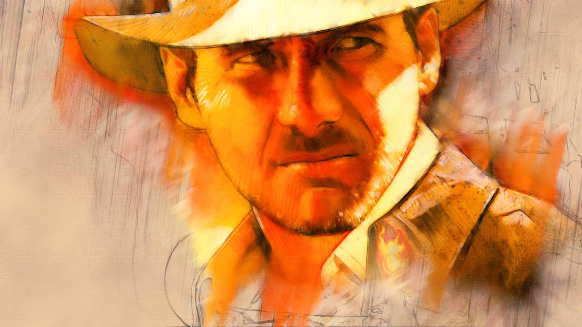 Indiana Jones Desktop (Original Art: Mark Raats) by indytim
