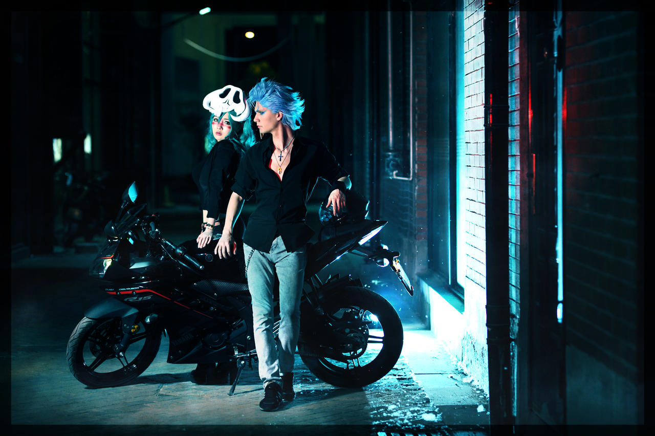 Grimmjow and Nel casual