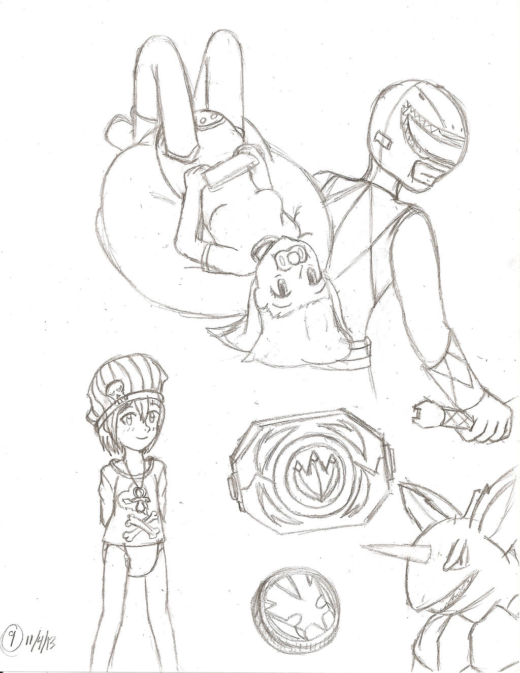 Sketch Pile 9 by TamaeFTT