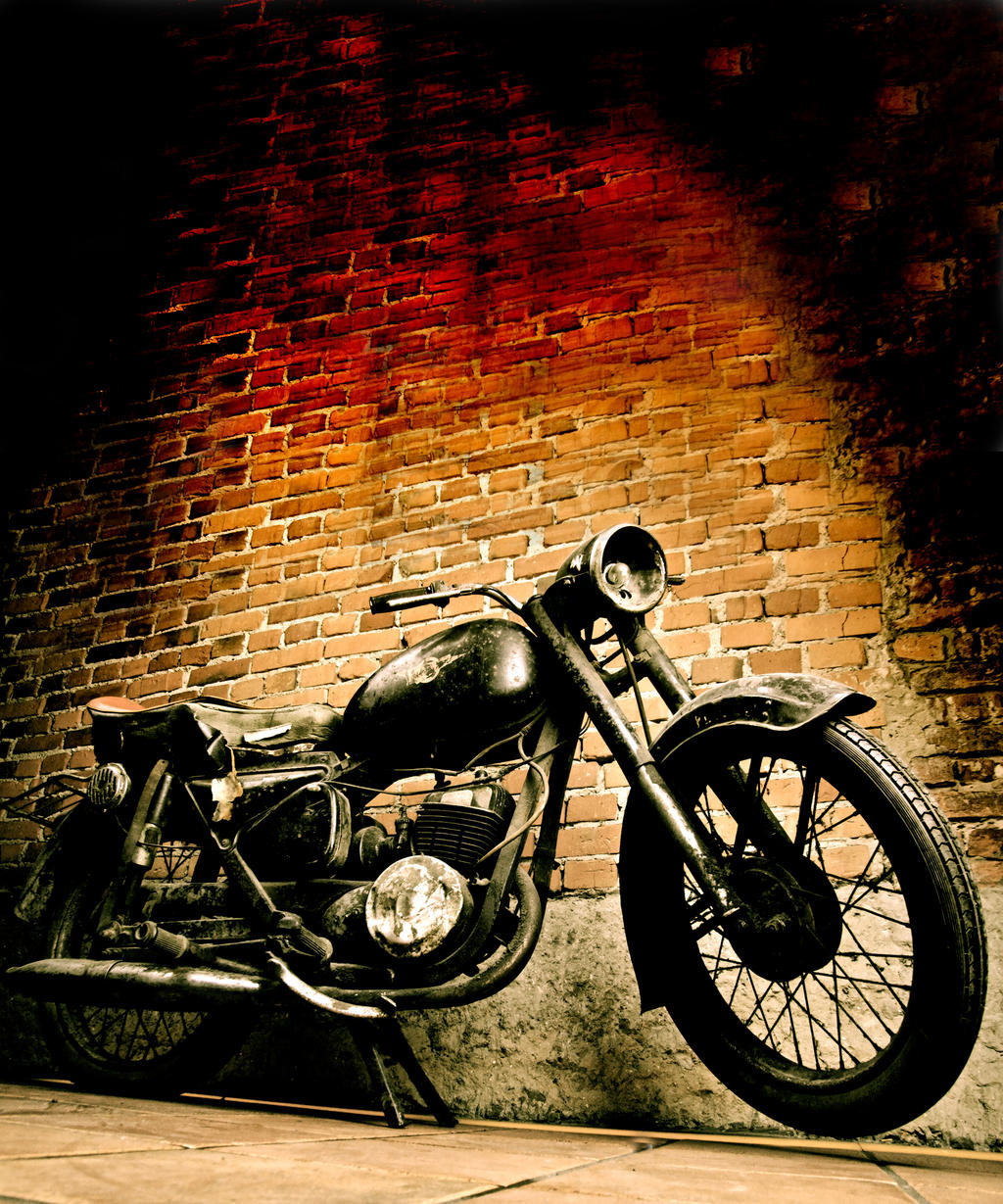 Old motorcycle vertical