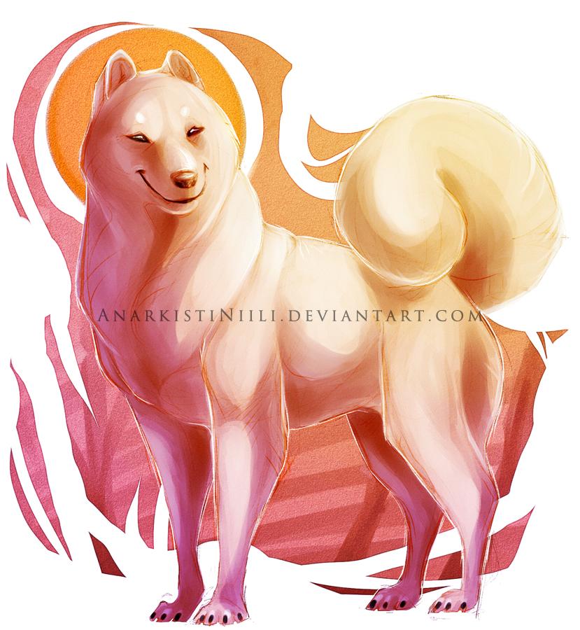 Old Art - White Doge by AnarkistiNiili
