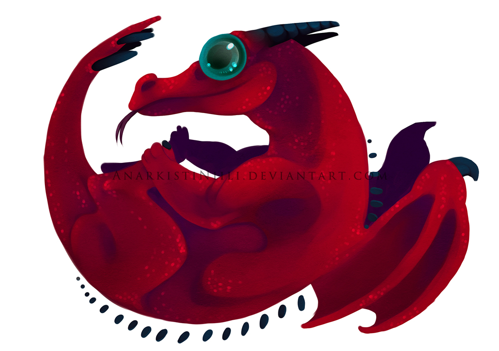 Old Art - Baby Dragon Roll by AnarkistiNiili