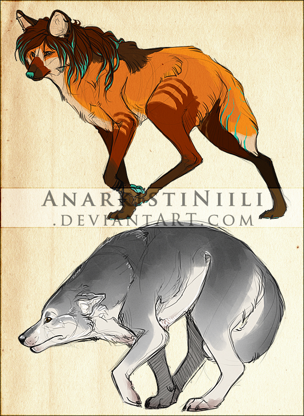 Sketch commissions by AnarkistiNiili