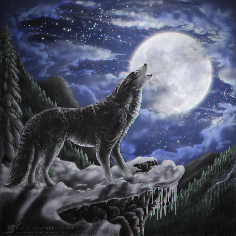 Wolf Moon. by Zaellrin