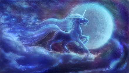 Unicorn Moon. by Zaellrin