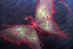 Red Dragon Moth. by Zaellrin