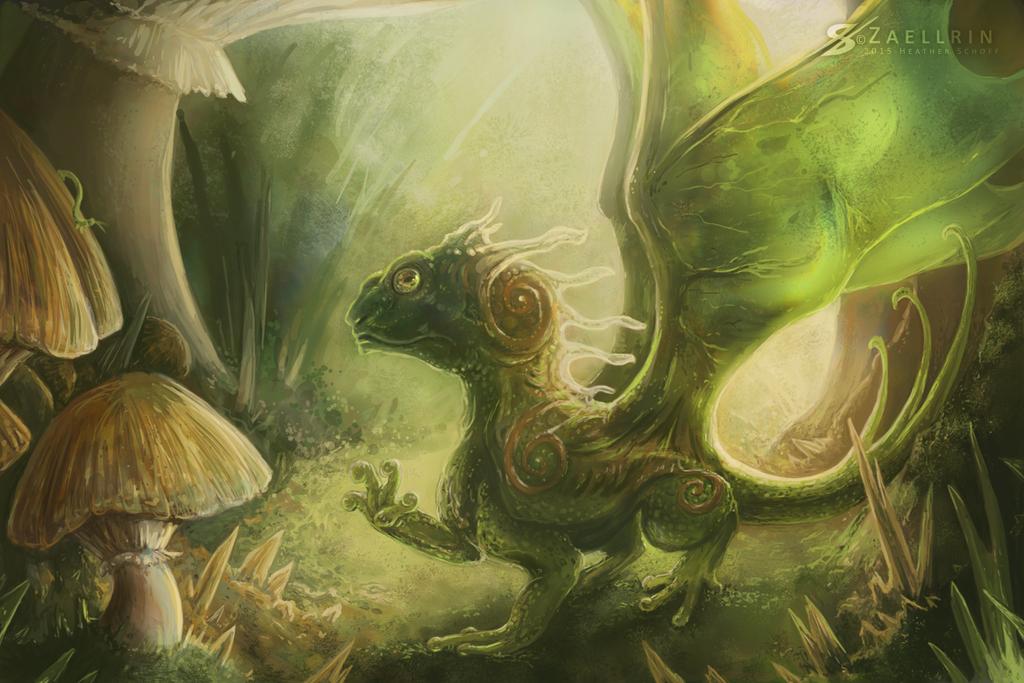 Alien Dragon. by Zaellrin