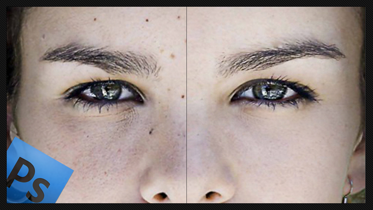 Digital retouching imperfections videotutorial