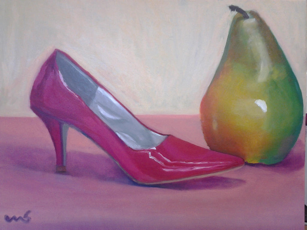 shoe and pear finished by Makodash