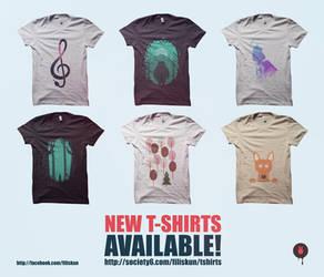 New t-shirts! by FILISKUN