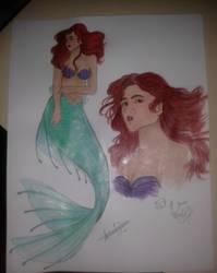 Zendaya as Ariel, The Little Mermaid by ALEXGARRIDO