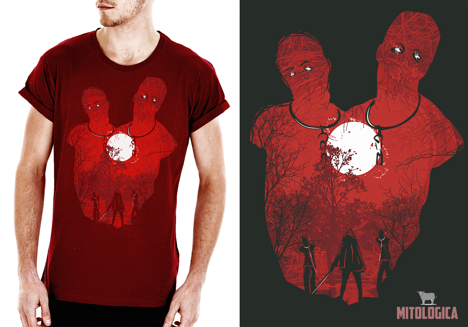 Shirt design red - Michonne T Shirt Design Updated By Spiderboo