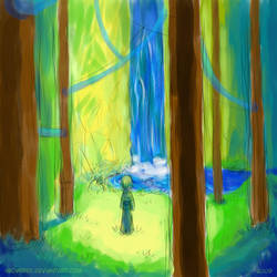 child in the forest