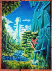 Oil painting fantasy landscape