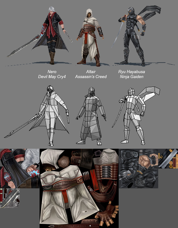 3d Character Design Process : Low poly collection by genci on deviantart