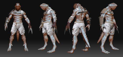 Lizard Man by genci