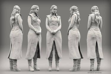 Daenerys Targaryen sculpt by genci
