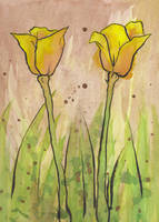 Watercolour Flowers 1 by Benry