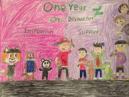 My One Year Anniversary on DeviantArt!