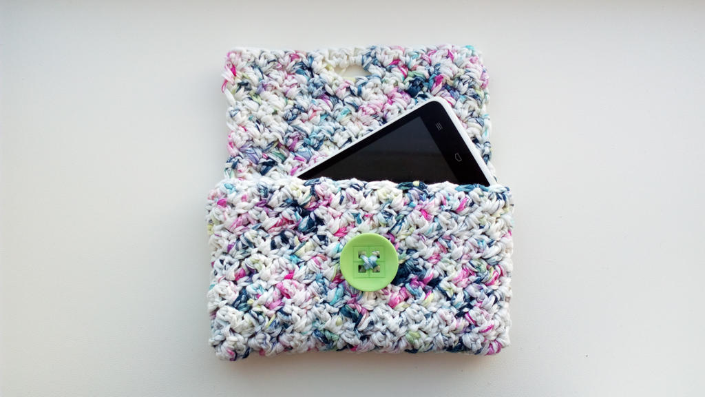 gehaakte clutch - crochet clutch by IngaleCreations