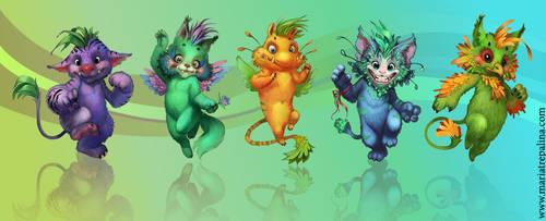 cute monsters by Ketka