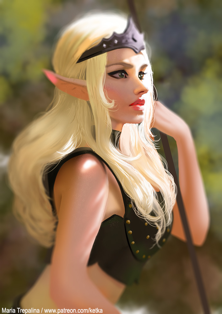 Elf - lighting study by Ketka