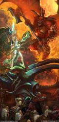 Alarielle vs Daemon Of Khorne Bloodthirster