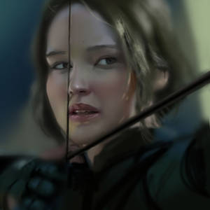 Katniss Everdeen - study portrait